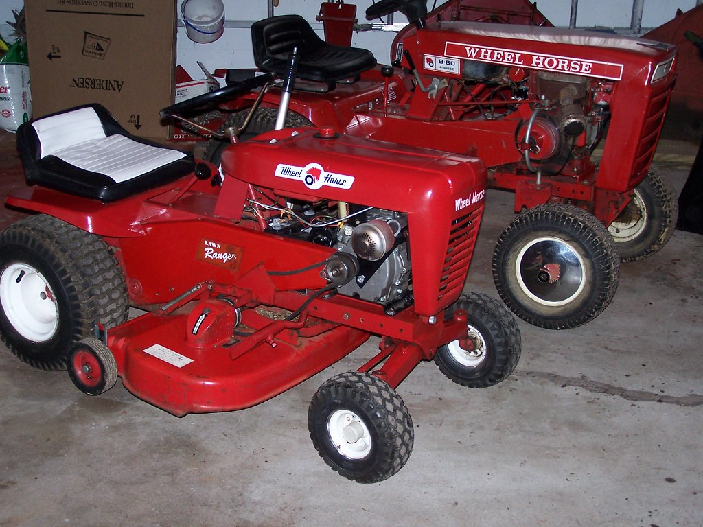 1967 Lawn Ranger and 1975 B-80 Wheel Horse tractors
