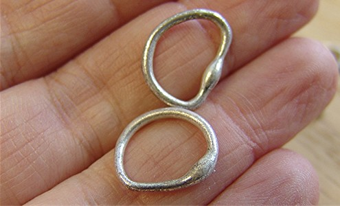 Fusing silver rings: Not easy!