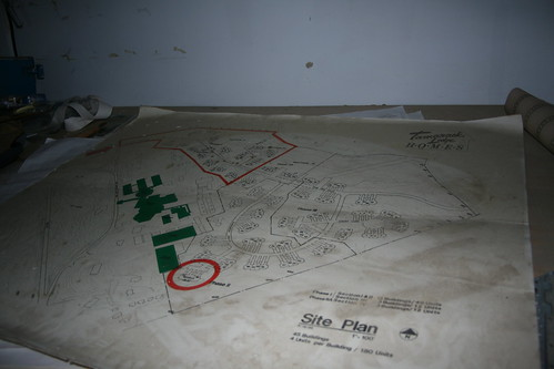 Site plan for new housing on the premesis