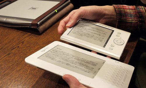 Amazon Kindle and Sony Pocket reader