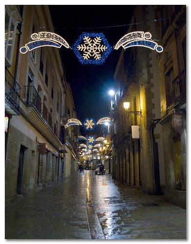 Calle Real en Navidad