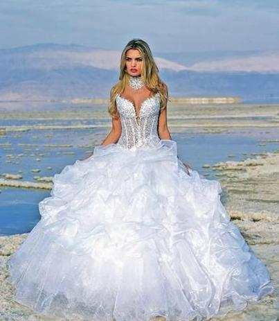 Sexy White Beach Wedding Dresses for Destination Wedding