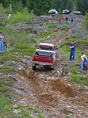 Redneck Mountain Climbing #2 (Trystian Sky) Tags: mountain truck offroad 4x4 hill olympus offroading c4040 cleelumlake c4040z olympus4040z 4040z olympus4040zoom