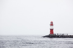 Beyond (96dpi) Tags: schnee winter sea lighthouse snow warnemnde meer balticsea ostsee rostock leuchtturm vorpommern mecklenburg
