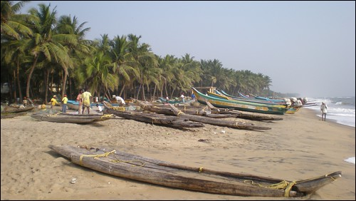 Fishing boats on Big Beach