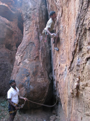 Badami Rock Climbing 6a more