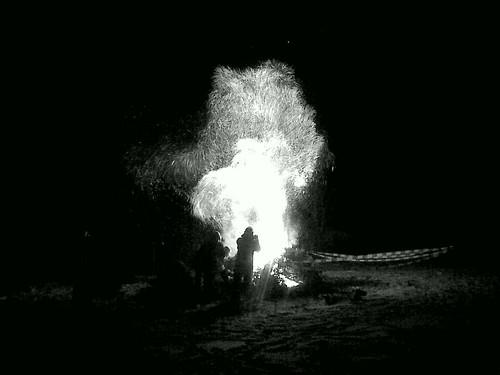 Weihnachtsbaumverbrennung