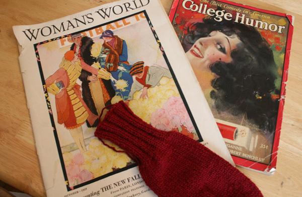 Vintage Magazines & Mitten Redo