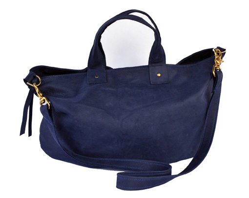 Navy Messenger Tote