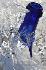 Blue neck (wout.) Tags: blue winter macro ice canon neck frozen bottle efs60mm eos400d