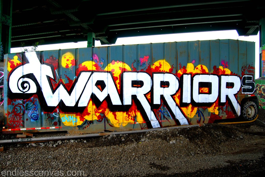 Warriors Piece Oakland California Graffiti.