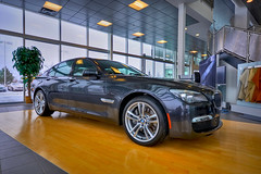 BMW 750i XDrive F01 HDR (mschroeter140) Tags: canada car bavaria edmonton fast twin mini turbo german alberta showroom bmw luxus hdr v8 intercooler motorsport f02 f01 750i xdrive n63 edmontonbmw