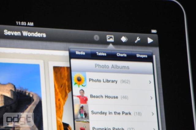 La suite iWorks pour iPad