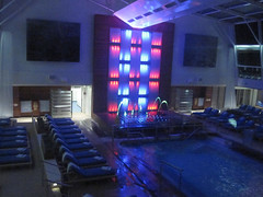 Celebrity Solstice Pool at night