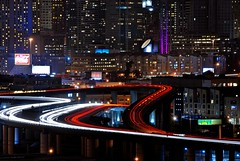 you're closer than ever before (pbo31) Tags: sf sanfrancisco california street city longexposure winter urban motion black color northerncalifornia night america dark lights moving movement lowlight nikon highway ramp view traffic over january sfmoma overpass billboard freeway bayarea cocacola soma d200 southofmarket potrerohill 2010 280 80200 traffictrails lightstream sanfranciscocounty theperfectphotographer