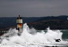 fener 6 (serhatto) Tags: sea lighthouse turkey trkiye wave istanbul karadeniz deniz ava dalga fener ile