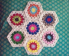 Hexagons & Cotton (LauraLRF) Tags: thread crochet cotton hexagon algodon tejido ganchillo hexagono