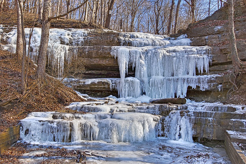 Dripping Springs, at Creve Coeur Lake, in Maryland Heights, Missouri, USA - 4