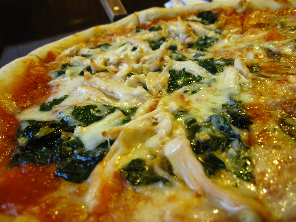 Spinach Chicken Pizza