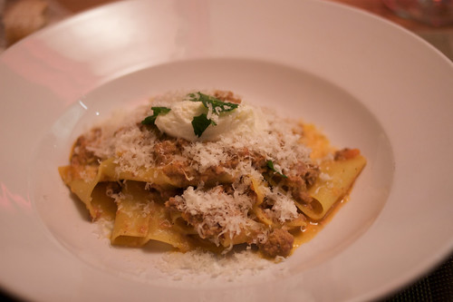 Parpadelle Lamb Bolognese at Ajax Tavern, Aspen. Photo by Clay Williams