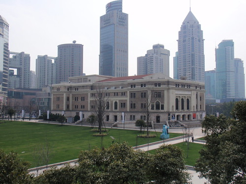 Shanghai Skyline and Music Hall
