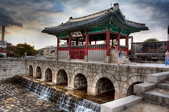 The Hwahongmun Gate :: HDR (retepwal) Tags: clouds river gate asia korea southkorea hdr suwon gyeonggido hwaseongfortress buksumun hwahongmun suwoncheon