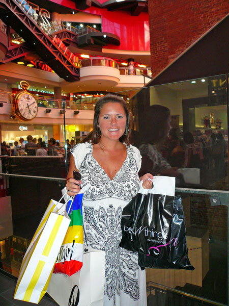 Marge happy with shopping in Australia!