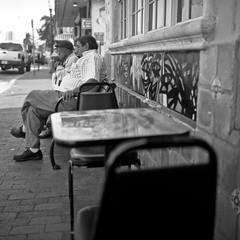 (patrickjoust) Tags: street city urban bw usa white man black men 120 6x6 tlr blancoynegro film analog america square lens us calle reflex nikon focus mechanical chairs little florida miami united havana chinese patrick twin 8 150 v lucky sit tables epson medium format fl 100 states manual ocho 500 rodinal joust developed estados f35 75mm siting blancetnoir unidos shd v500 airesflex schwarzundweiss nkkor autaut patrickjoust