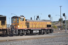UPY EMD MP15AC 1477, former SP 2749, built in September, 1975, in service at Tucson Yard, Arizona, January 14, 2010 (Ivan S. Abrams) Tags: railroad up train trains goods unionpacific motive freighttrains railyard railways railroads railyards freighttrain uprr shuntingyard unionpacificrailroad electricnikon d700 onlythebestare ivansabrams trainplanepro countysouthern ivanabrams shuntingyards traingoods trainsarmour yellowharbor graytucspnarizonapima arizonasoutheast arizonaemdgeelectromotive dieselelectro dieselgeneral abramsandmcdanielinternationallawandeconomicdiplomacy ivansabramsarizonaattorney ivansabramsbauniversityofpittsburghjduniversityofpittsburghllmuniversityofarizonainternationallawyer