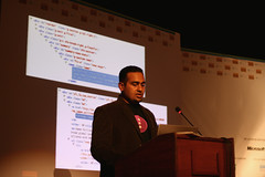 Subramanyan Murali presenting at Techshare India 2010