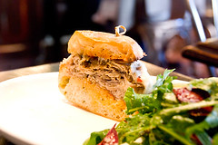 porchetta-sandwich (food_in_mouth) Tags: food ny newyork sandwich brunch tribeca porchetta locandaverde