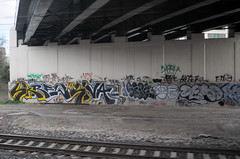Under the Bridge, no.2 (alankin) Tags: bridge 15fav streetart philadelphia geotagged graffiti pennsylvania tags rails fromthetrain inpassing philly underneath skrew septa urbanlandscape r8 trainline strawberrymansion 150views niknala nikkoraf24mmf28 nikond300 chestnuthillwestline 22apr2008 1700082amu skrewcense geo:lat=39983145 geo:lon=75183445