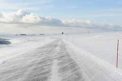 Snow road truckers (GeirB,) Tags: winter mars snow cold march vinter nikon wind windy arctic nikkor finnmark vads snowroad kaldt varanger ekkery barentsregionen snfyk