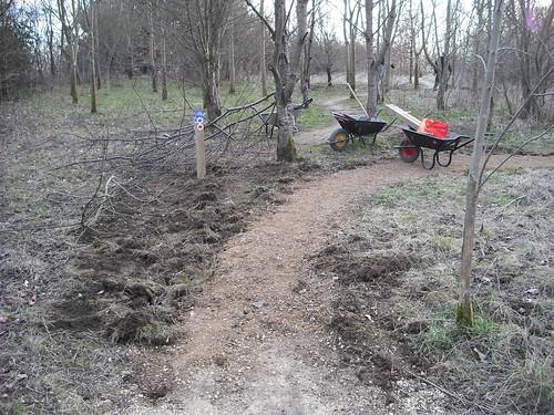 New start corner at Croft Trail, Swindon.
