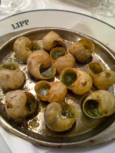 Escargots, Brasserie Lipp
