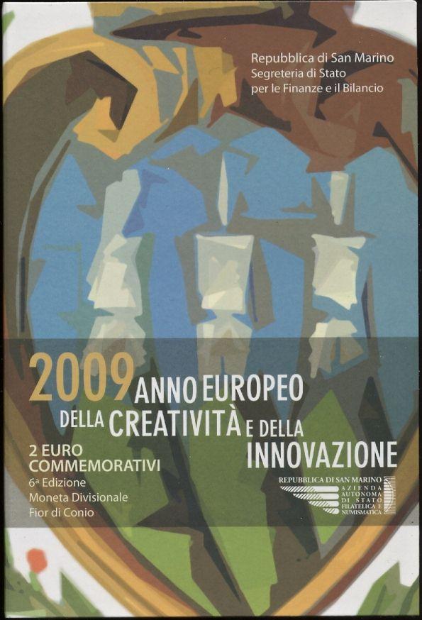 Oficiálne bal. 2 Euro San Marino 2009, Európsky rok kreativity