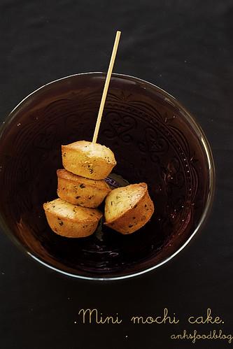 Baked mini mochi