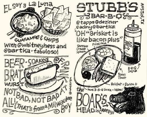 SXSW Interactive 2010: Food Sketchnotes