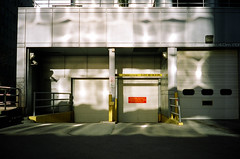 .. (Jösé) Tags: light toronto shadows kodak parking entrance rangefinder illuminated reflected overexposed konica portra 800 c35 800400