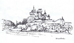 2002 Montfort, Chteau de Montfort (Maarten Ruijters) Tags: france castle sketch drawing dordogne montfort aquitaine chateaudemontfort maartenruijters