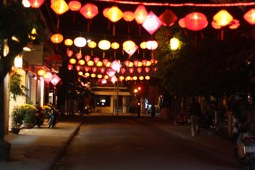 Old town in Hoi An at night