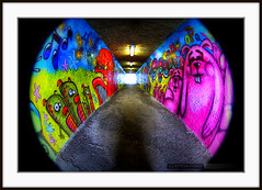 New Brighton Park (Clayton Perry Photoworks) Tags: park city canada art vancouver canon graffiti paint downtown bc britishcolumbia tag tunnel tagged fisheye spraypaint walls eastside dtes taging newbrightonpark canonphotography 1dmarkiii canon1dmarkiii