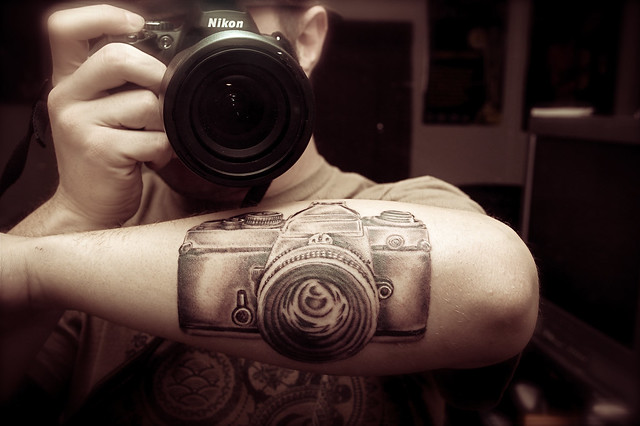Film Camera Tattoo
