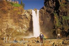 Washington waterfall (canno1979) Tags: waterfall washington postcard snoqualmiefalls