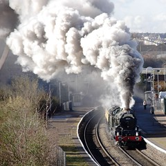 Brunel Express (*Firefox) Tags: railroad train bristol king smoke railway canoneos20d steam explore frontpage steamengine brunel gwr 460 isambardkingdombrunel mainline ikb collett greatwesternrailway 6024 kingedwardi 8p kingclass