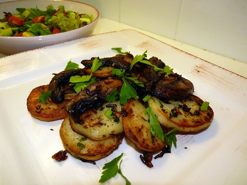 Potatoes with Swiss Brown Mushrooms