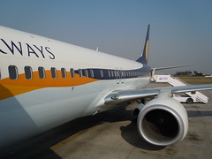 Jet Airways @ Kathmandu (orclimber) Tags: plane airplane jet ktm airways