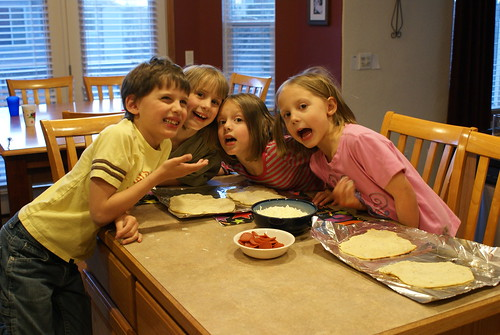 Making pizza is fun!