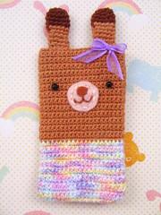 Coelhinha Lao Lils (Veri R. << Hello Veri >>) Tags: rabbit bunny handmade crochet cellphone superdrops protetordecelular