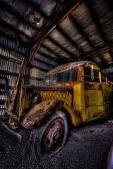 Late for School (Kyle Bailey - Da Big Cheeze) Tags: school inspiration color cars yellow vancouver canon rust automobile colours wheels transport professional example hotrod trucks schoolbus custom inspire rods hdr critique kylebailey rookiephoto dabigcheeze wwwrookiephotocom